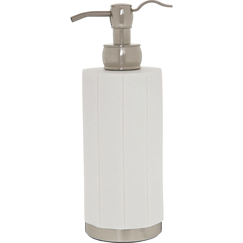 White Panel Hand Soap Dispenser - Bathroom Accessories - Bed & Bath ...
