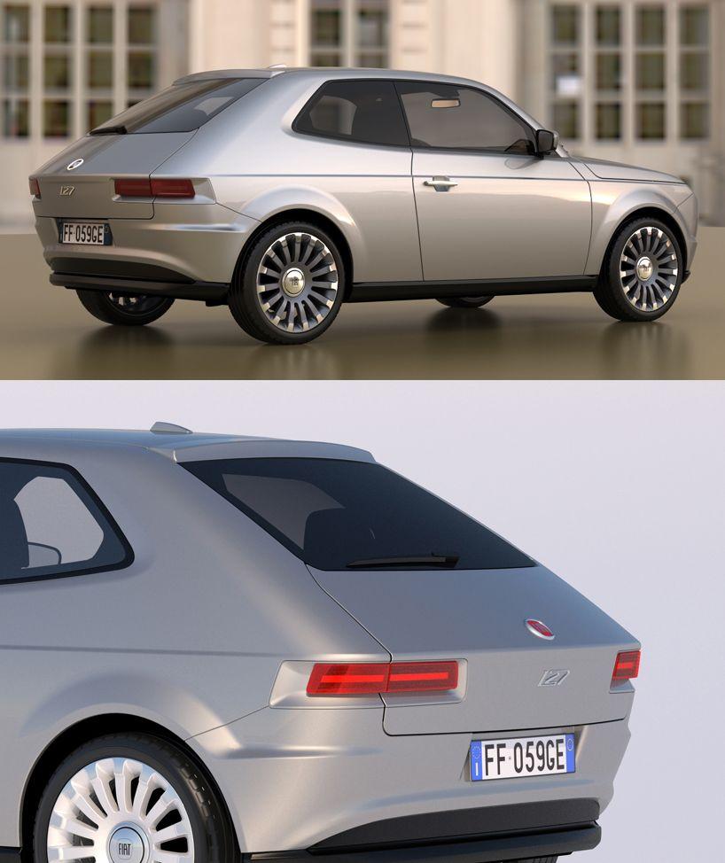 A Tribute To Pio Manzu Fiat 127 Concept By David Obendorfer