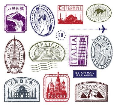 Collection Of Stamps From All Around The World Jpg Pdf Png And