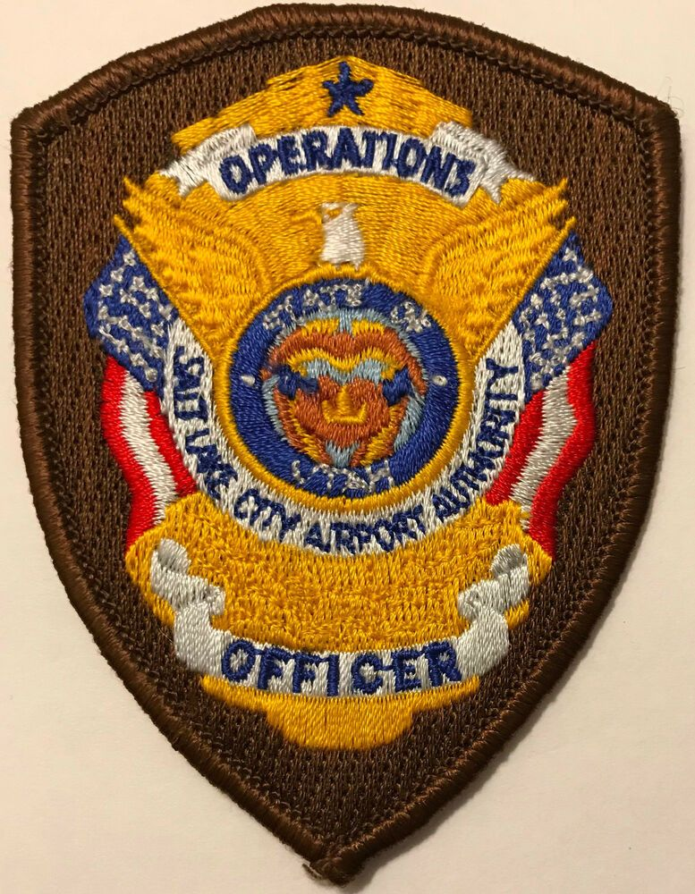 Salt Lake City Utah Operations Officer Airport Patch