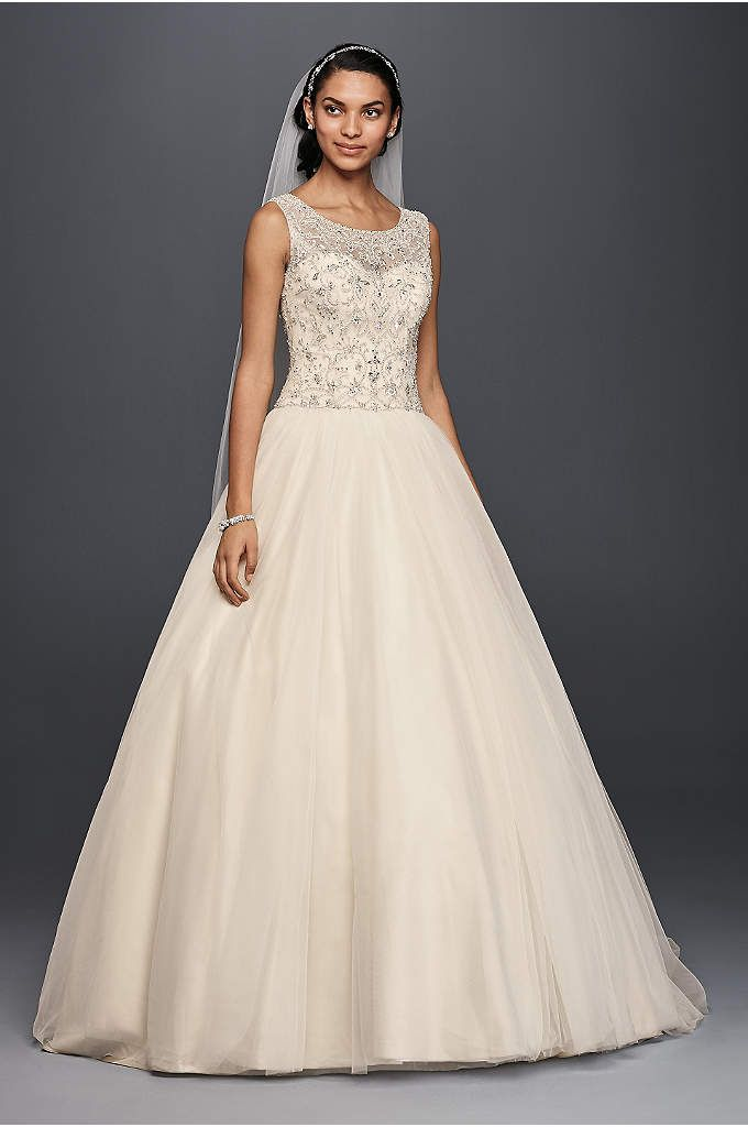 Oleg Cassini Ball Gown Wedding Dress with Beading - There\'s ...