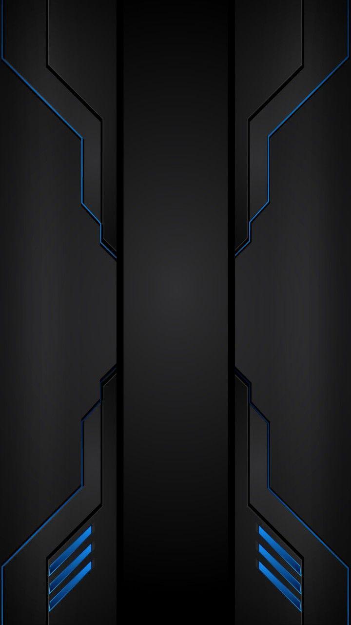 Jmc Blue Tech H S Geometri Wallpaper Ponsel Latar Belakang