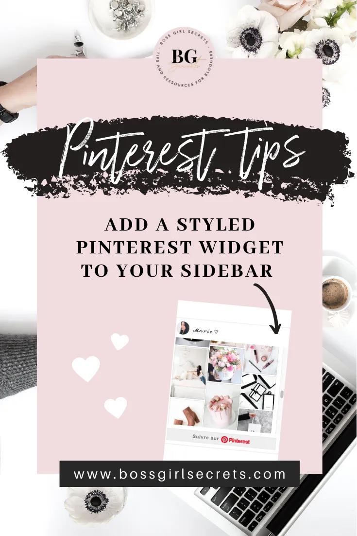 Pinterest widget for wordpress how to add a styled widget