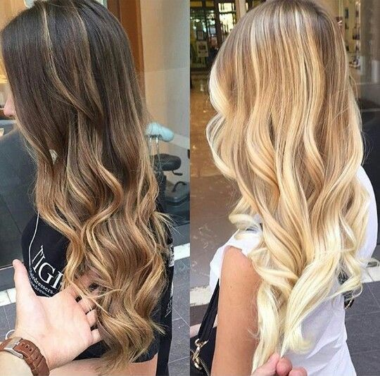 Brunette vs blonde balayage ombre hair alannmj