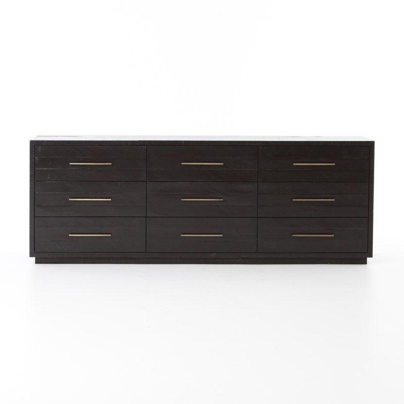 Bedroom Suki 9 Drawer Dresser-Burnished Black THE CUMBERLAND