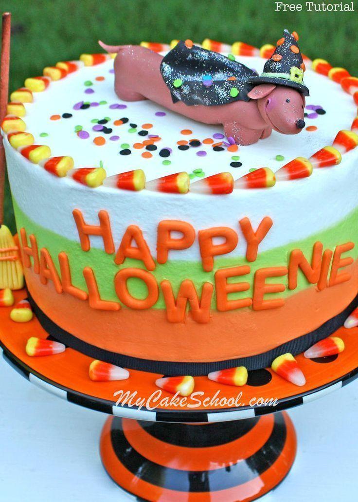Happy Halloweenie! Free Cake Video~ Featuring Topper & Tri-Colored Buttercream