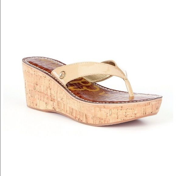 Sam Edelman Wedge Sandals - like new Worn once and in great condition. Perfect for summer! Sam Edelman Shoes Wedges