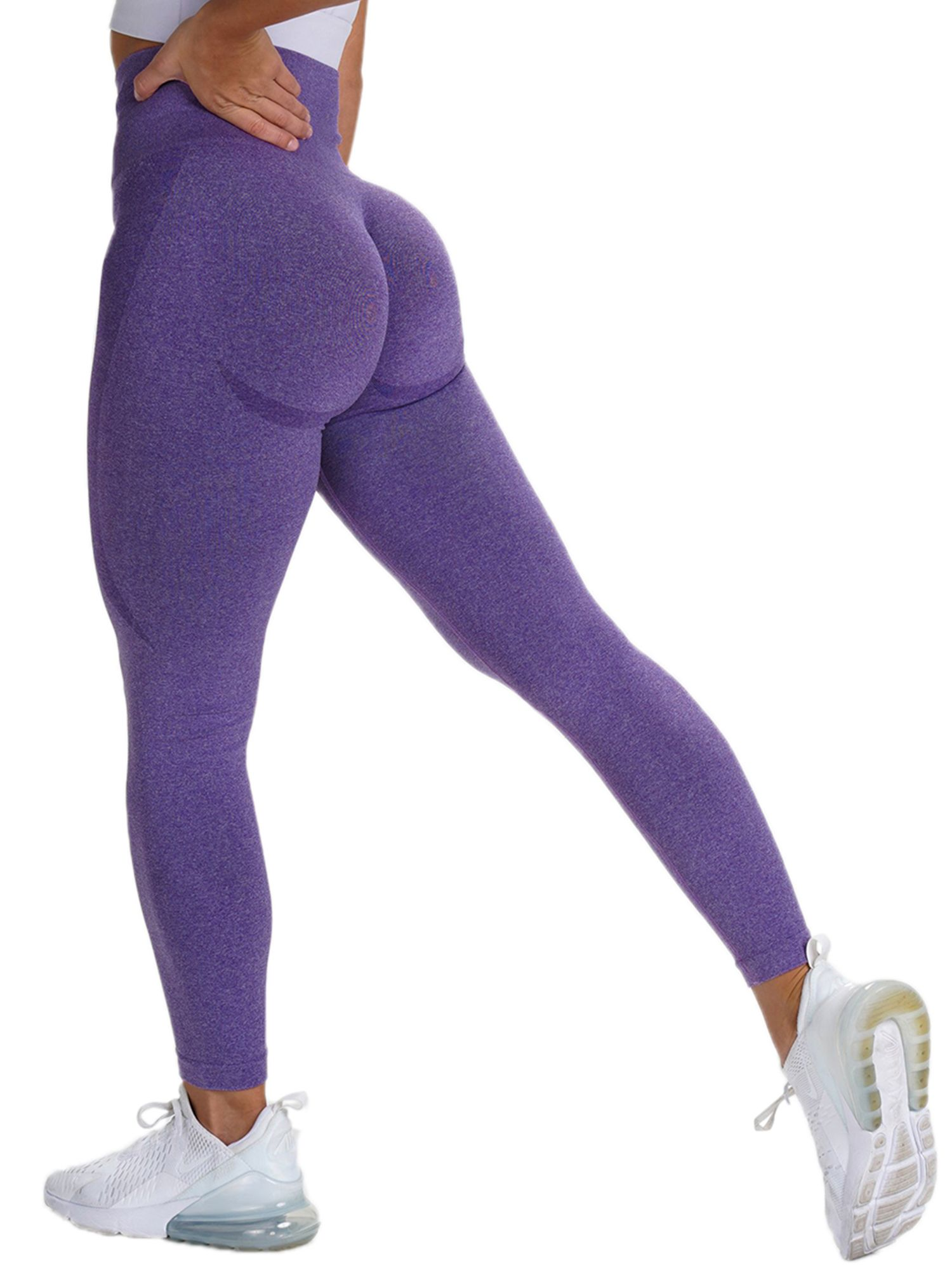 Type:Women Yoga PantsPattern Type: Solid ColorWaist: High WaistSize: S,M,L (please follow the Sizing chart in the left photo