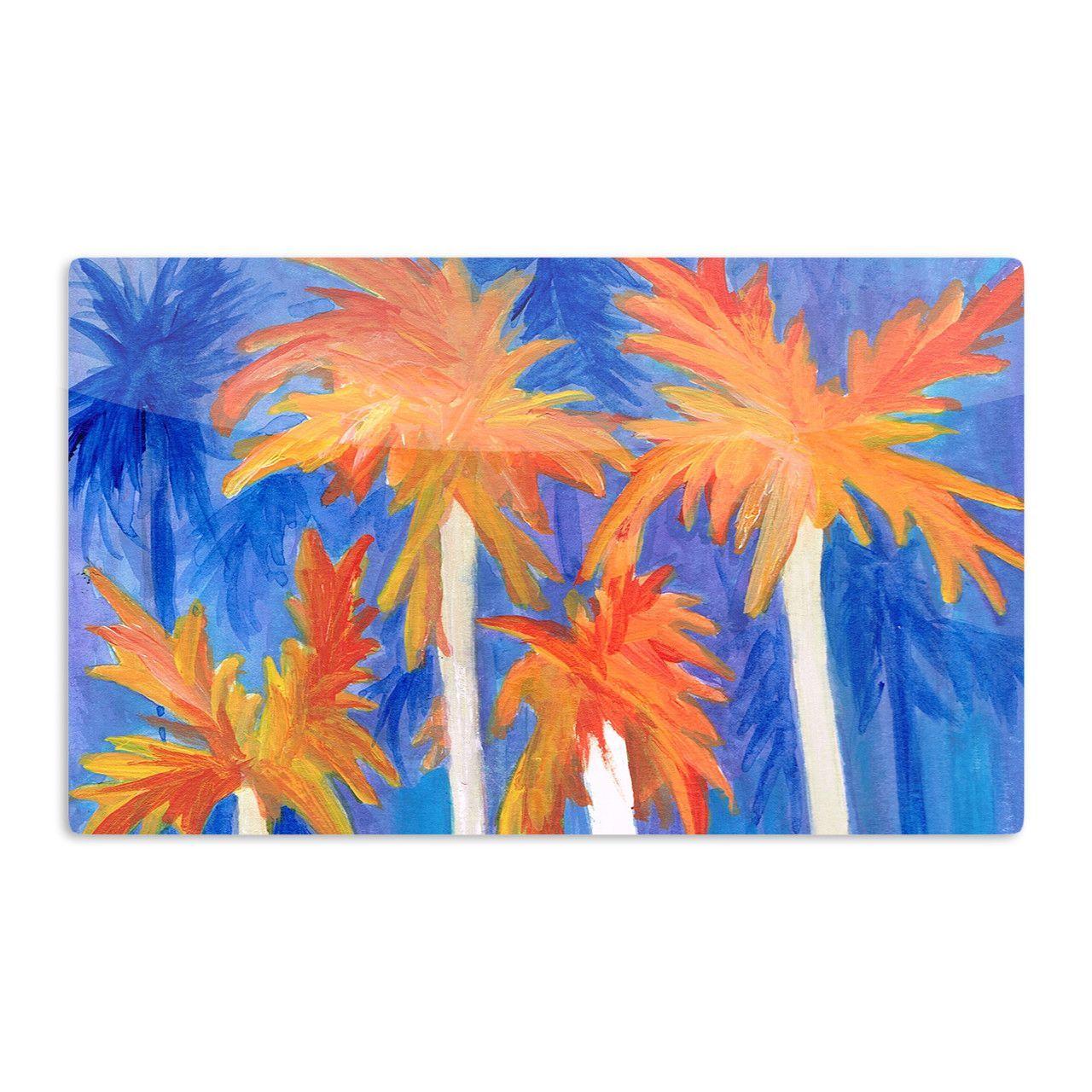 """Rosie Brown """"Florida Autumn"""" Blue Orange Aluminum Magnet"""