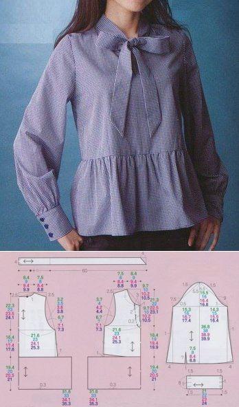 Выкройки блузки с купить ткани курская