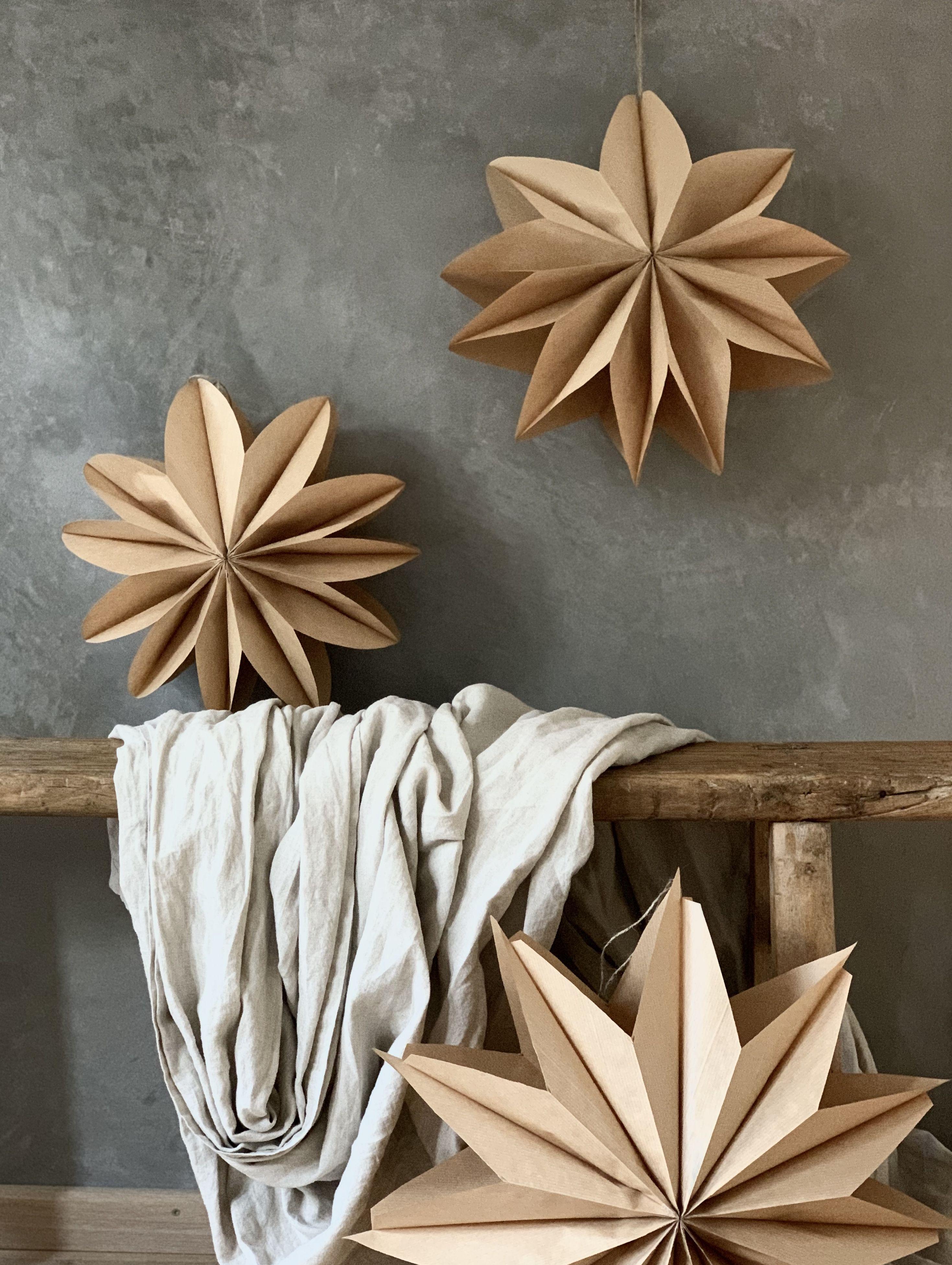 DIY Papiersterne Christmas decor diy, Paper christmas