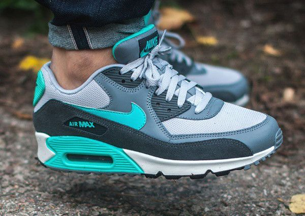 online retailer 2db2b 313c8 Nike Air Max 90 Essential (Cool Grey Hyper Jade) post image