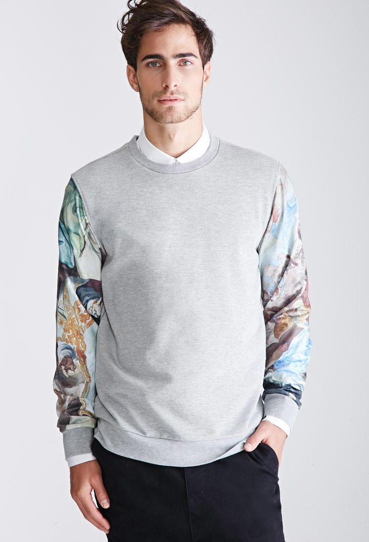 Heathered Renaissance Sleeve Sweatshirt Promo 21menshoodiestees