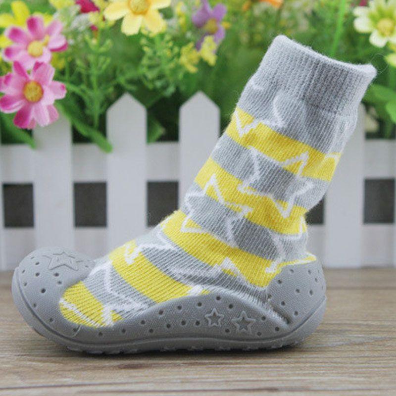 redelijke prijs mode stijlen nieuwkomers Pasgeboren Antislip Babysokjes Met Rubberen Zolen Voor ...