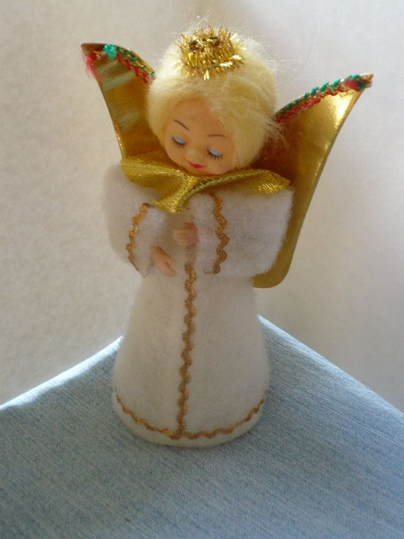 Vintage Christmas Angel Tree Topper 1960 S Etsy Christmas Angels Vintage Christmas Tree Toppers