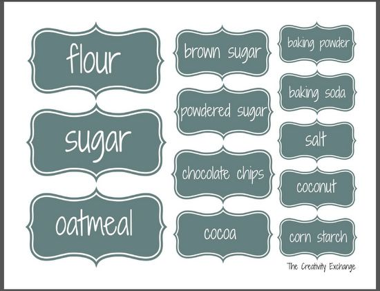 Organize A Baking Cabinet With Free Printable Pantry Labels Pantry Labels Labels Printables Free Printable Labels
