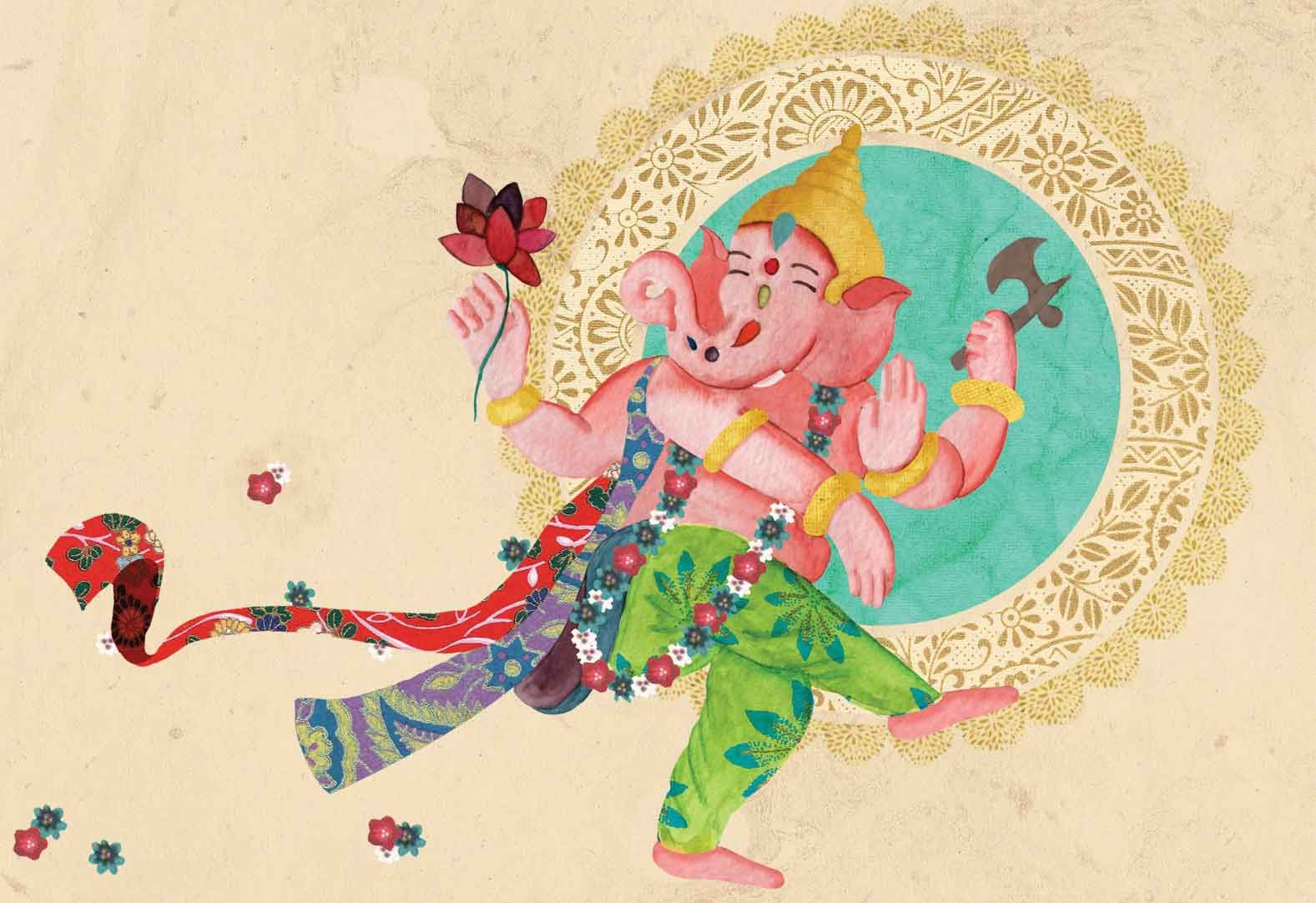 Little Guruskool  Illustration Of Ganesh Chaturthi For The