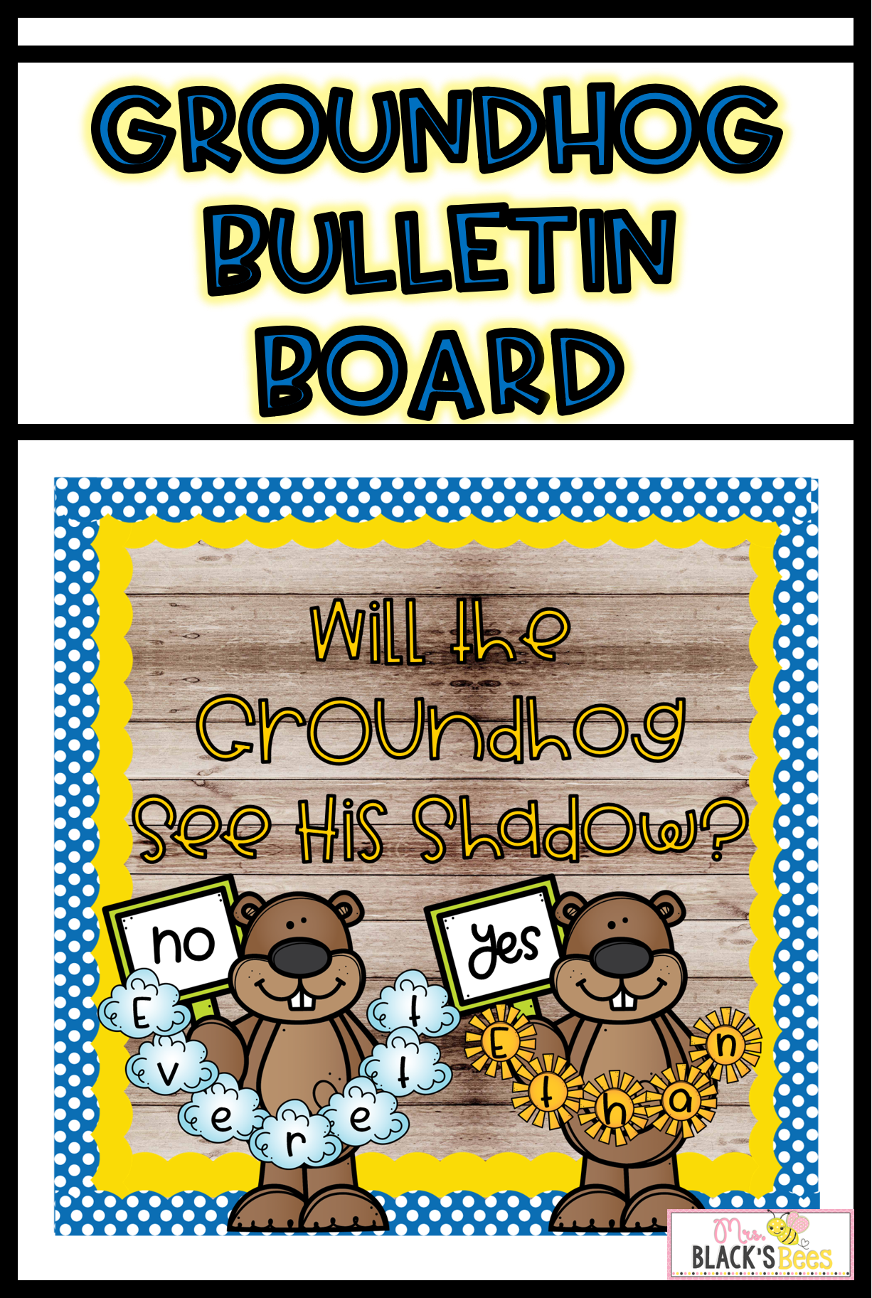 Groundhog Day Bulletin Board Craft And Crown