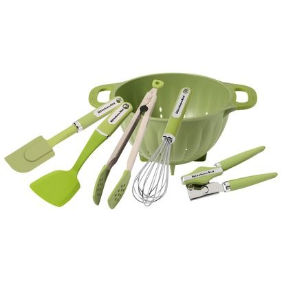 Kitchenaid Classic Color Utensils Green Apple Opens In A