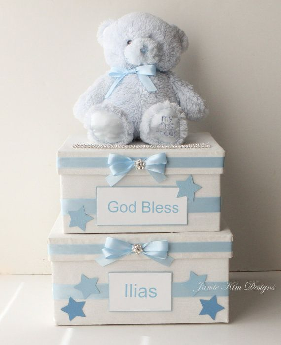 Card Box For Baby, 1st Communion Card Box, Baby Shower