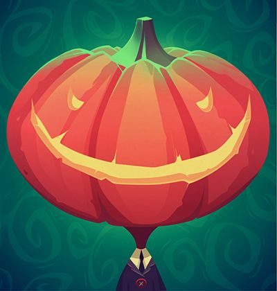 Halloween invitations and greeting cards