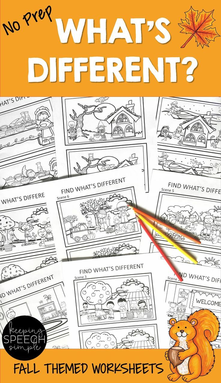 What's Different? Language Activities for Fall | Holidays