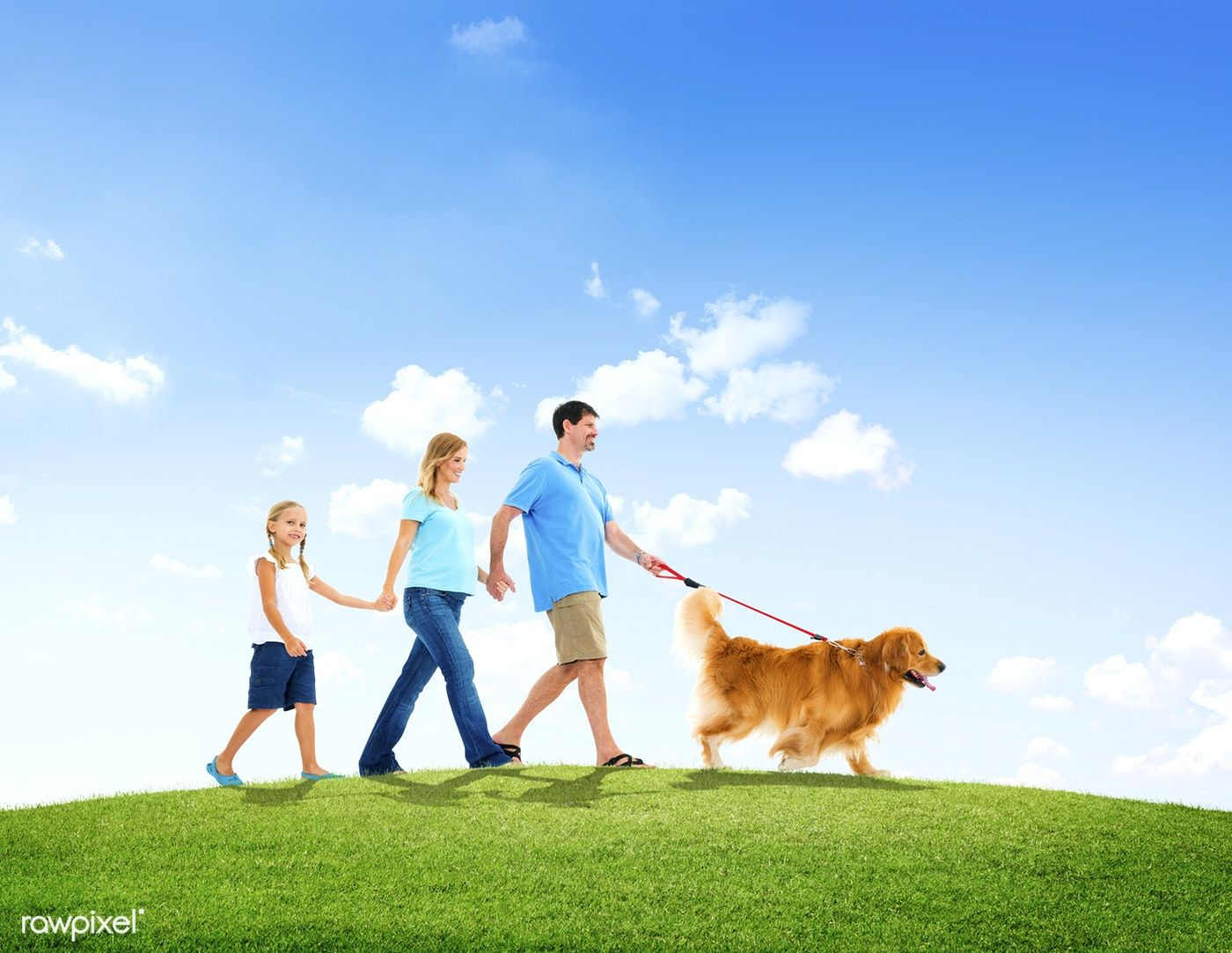 Download premium image of Family Walking Together with