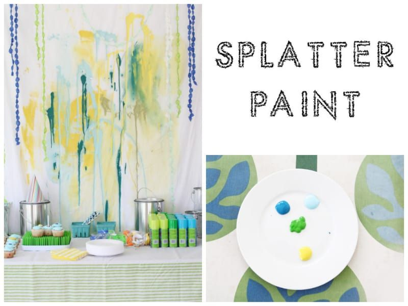 Release creative expression by creating a splatter paint backdrop here.