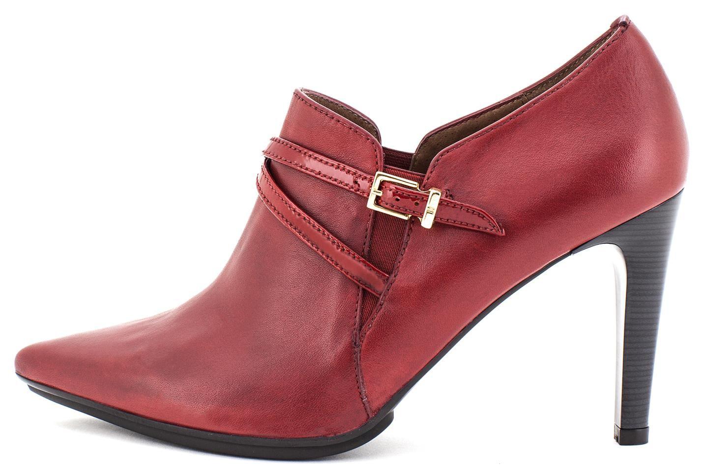 Zapatos Mujer Abotinado Hispanitas Hi51918 Guinda Pointed Toe Boots Heels Shoes