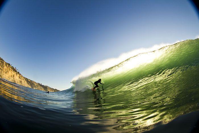 Rob Machado surfing at Black's Beach in La Jolla, CA. Photo by Todd Glaser.
