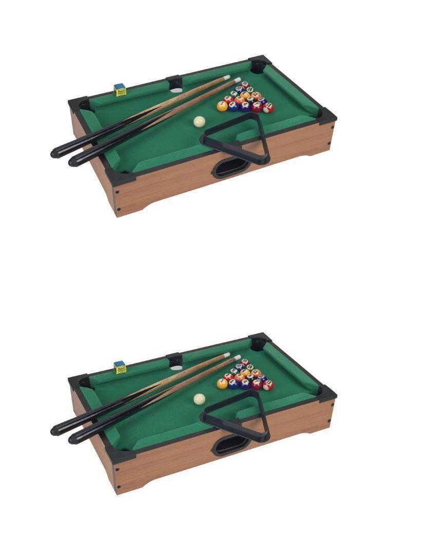 Tables 21213: 20 Inches Long Mini Table Top Green Felt Pool Table Set  U003e