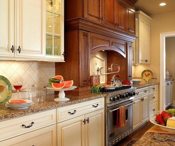 antique white kitchen cabinets baltic brown granite ...