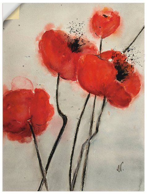 Photo of Artland Premium Wandfolie »Christine Nöhmeier: Roter Mohn« on-line kaufen | OTTO