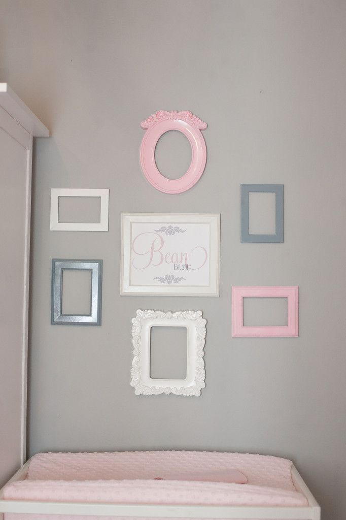 Tiny Budget in a Tiny Room for a Tiny Princess | Nursery frames ...