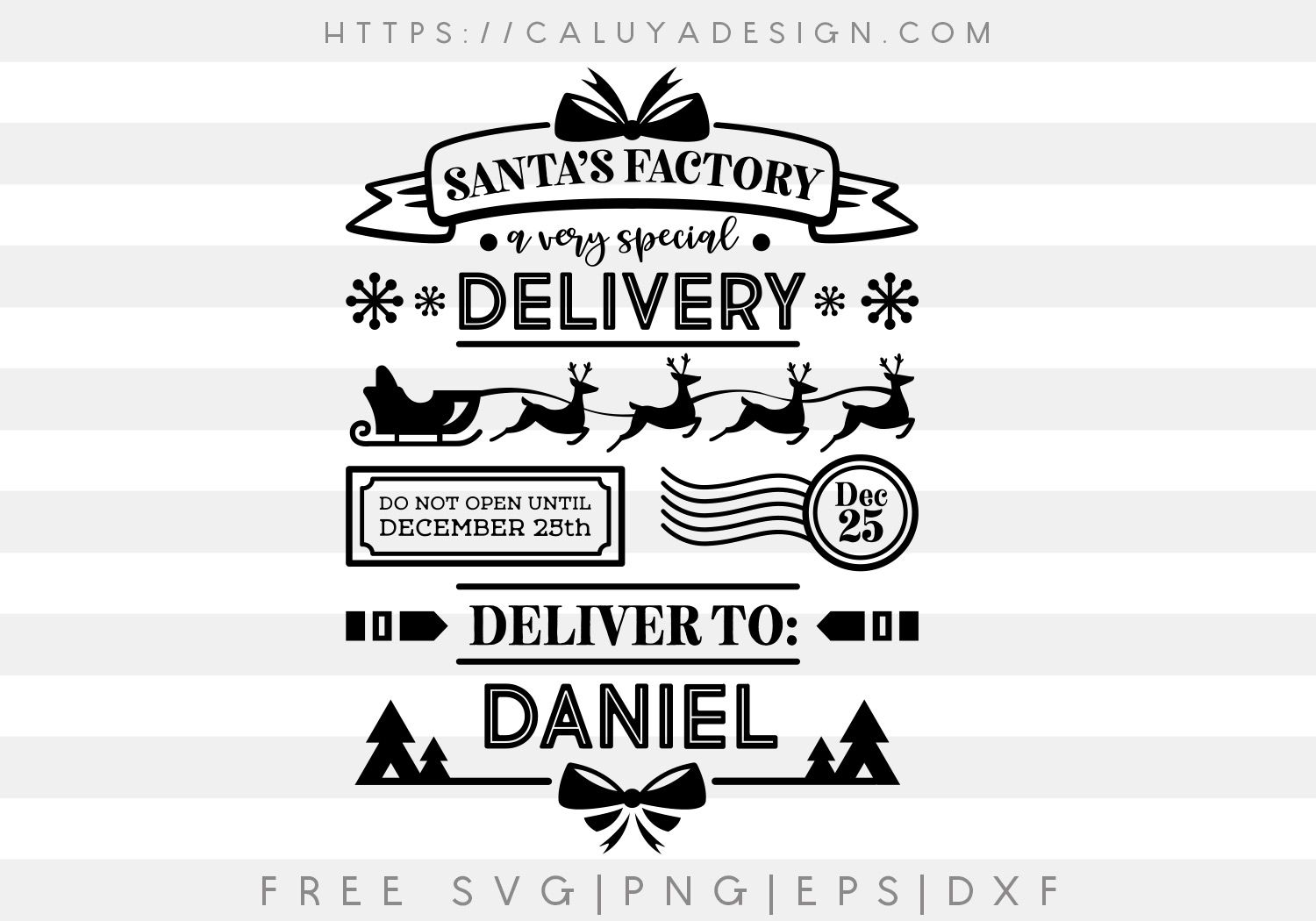 Free Santa Bag I SVG, PNG, EPS & DXF by (With images