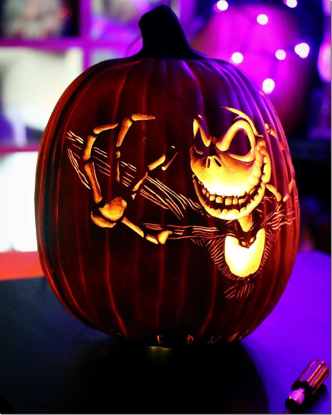 This Wonderful Jack Skellington Pumpkin Carving Will Reach
