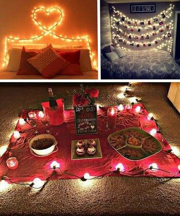 Date night at home ideas | Aniversario decoracion, Novio ... Surprise Romantic Night At Home