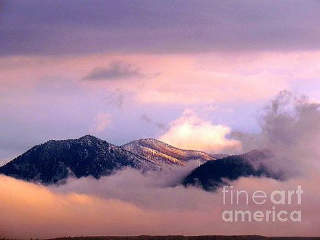 Mountains wrapped in clouds 2 by Diane M Dittus