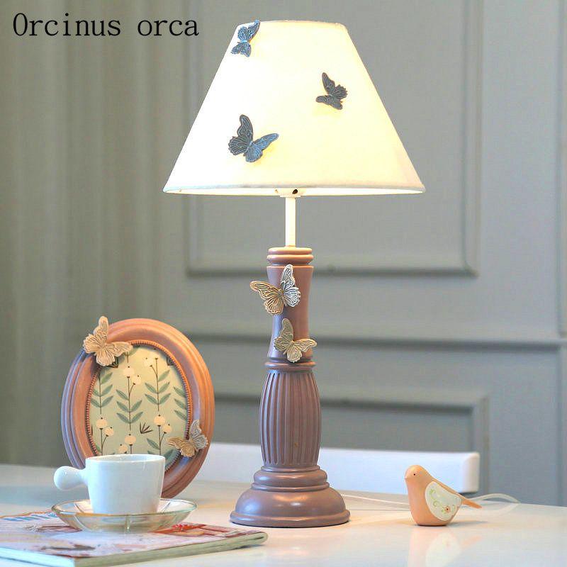 Cartoon Creation Butterfly Flower Table Lamp Girl Bedroom Children S Room Princess Room Light Lovely Adjustable Ligh Table Lamp Room Lights Adjustable Lighting