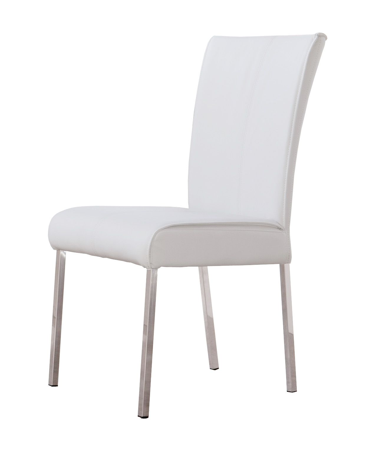 Dining Chairs With Stainless Steel Legs On Chair Dance Pu Kd In Polished Dc 7328
