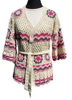 Saco Mujer Tejido Crochet