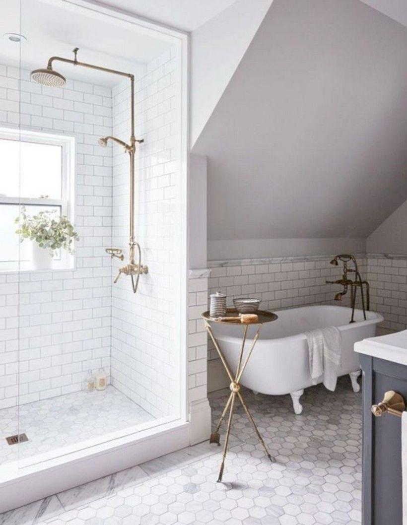 53 Inspiring Farmhouse Shower Tile Remodel Ideas Bathroom