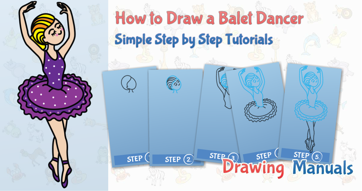 This step-by-step drawing tutorial will give you directions for creation of ballerina. Now let us take a pen and paper and draw a ballerina with this simple step-by-step guideline!