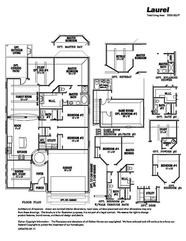 Gehan Homes Laurel Floor Plan And Options Floor Plans House