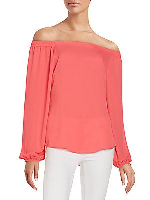 c541d21987703 Saks Fifth Avenue RED Off-The-Shoulder Top - Dark Blue - Size X Small