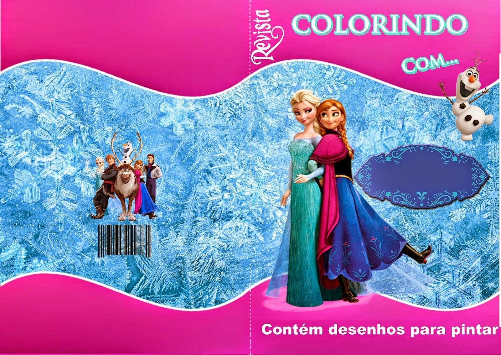 Frozen Free Printable Coloring Book Cover
