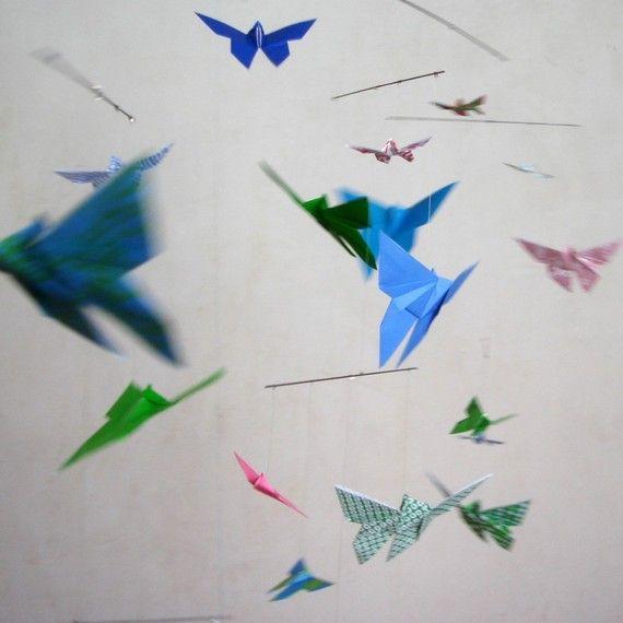 Fluttering origami butterflies  :-)