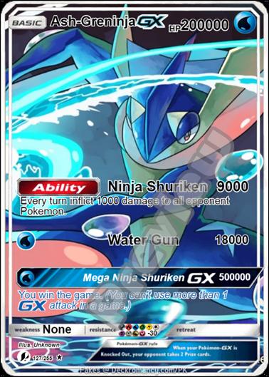 Ash Ketchum Mega M Greninja Gx Ex Orica Pokemon Card Pikachu Pokemon Cards Rare Pokemon Cards Pokemon Cards Legendary