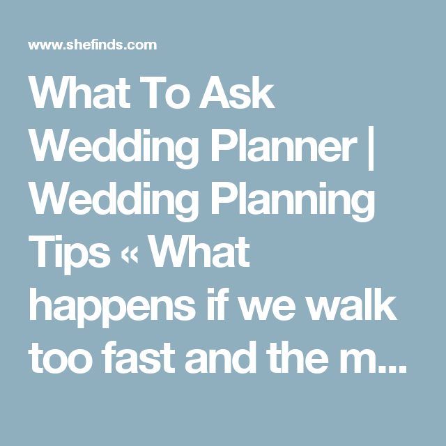 What Song Do Brides Walk Down The Aisle To: What Happens If We Walk Too Fast And The Music Keeps