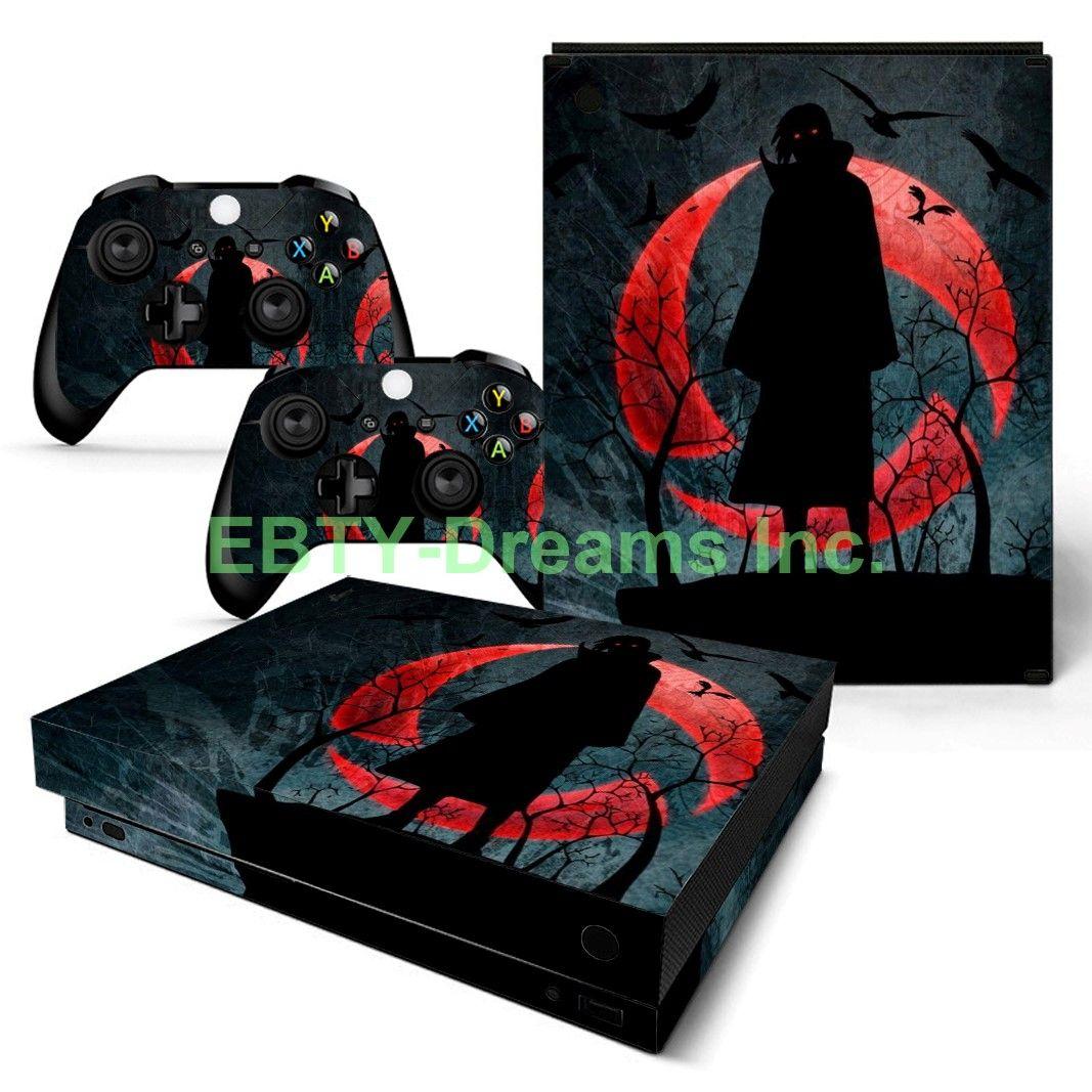 Ebty Dreams Inc Microsoft Xbox One X Scorpio Naruto Anime Uchiha Itachi Sharingan Vinyl Skin Sticker Decal Protector Vinyl Decals Anime Xbox One